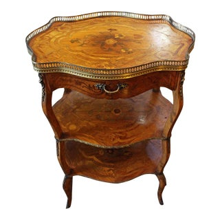 Late 18th Century Vintage Louis XV Style 3-Tier Table For Sale