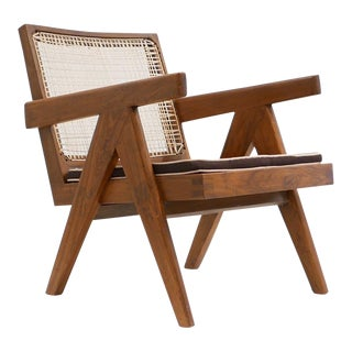 1955 Pierre Jeanneret Model Pj-Si-29-A Low Lounge Chair For Sale
