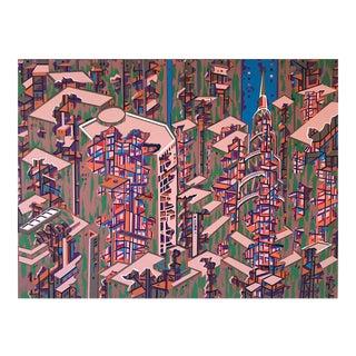 City 366 Serigraph by Risaburo Kimura For Sale