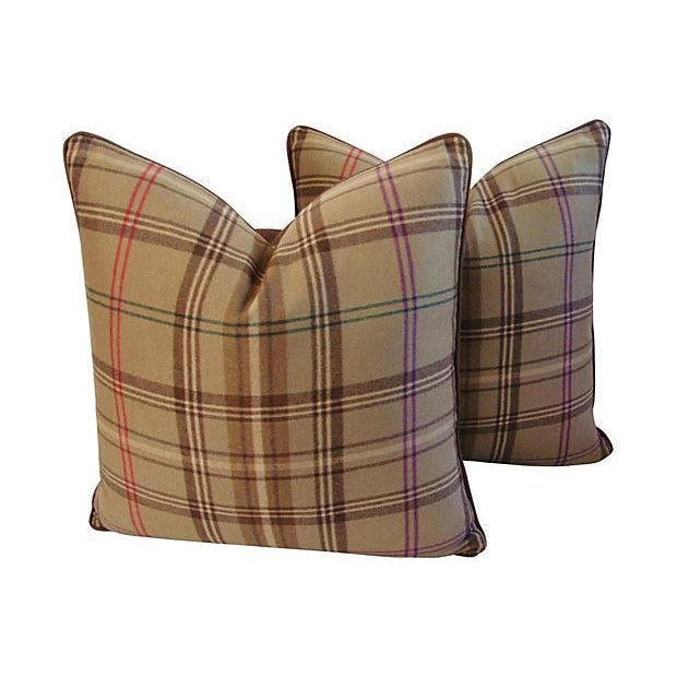 Ralph Lauren Wightwick Plaid Pillows - A Pair - Image 1 of 7