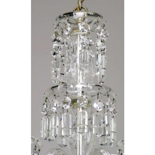 Circa 1940s Lightolier Cut-Crystal Five Arm Chandelier For Sale In Chicago - Image 6 of 9