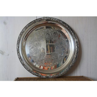 Large Round Silver Tray Preview