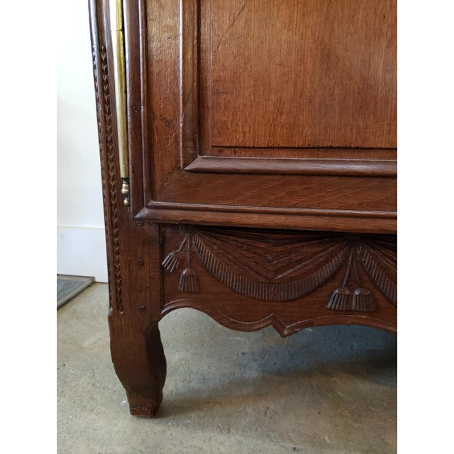 19th Century French Provencal Carved Walnut Armoire For Sale - Image 5 of 13