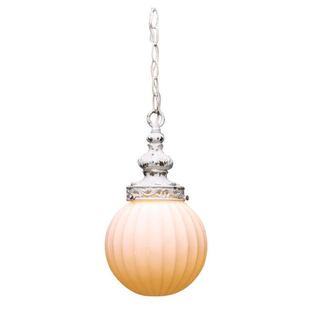 Antiqued White Globe Pendant - Image 1 of 5