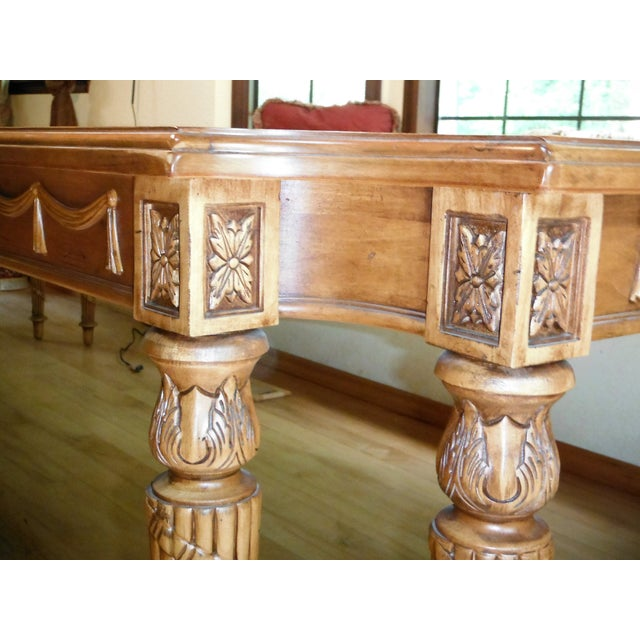 Century Furniture Traditional Carved Dining Table - Image 5 of 7