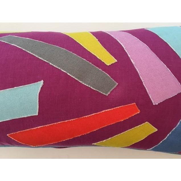 Patchwork Lumbar Pillow - Image 4 of 4