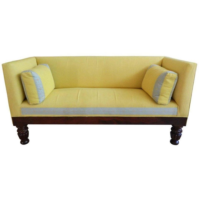 19th Century Classical Box Settee or Sofa For Sale - Image 10 of 10
