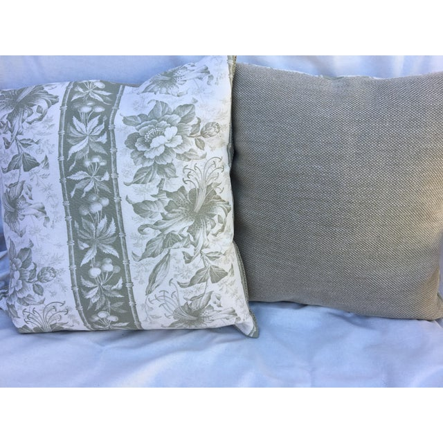 Traditional Bennison Linen Pillow For Sale - Image 3 of 6