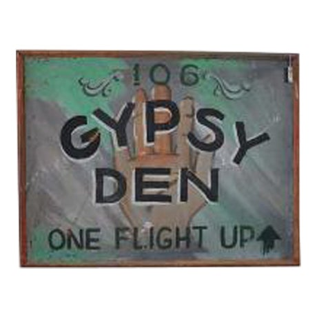 1970s Vintage Gypsy Den Fortune Teller Sign - Image 1 of 5