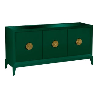 Casa Cosima Hayes Sideboard, Chrome Green For Sale