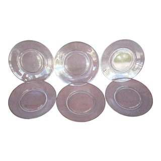 Fostoria Crystal Dessert Plates - Set of 6 For Sale
