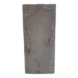 Signed Etched Female Figure Stone Wall Plaque For Sale