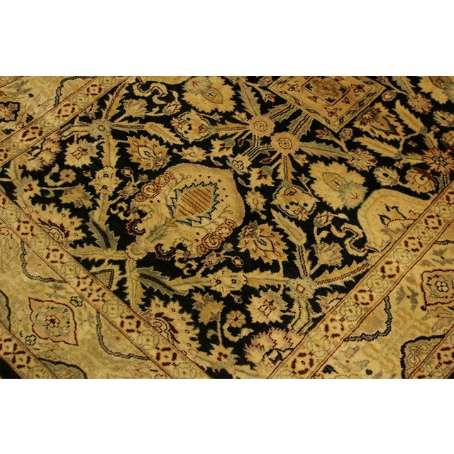 Textile Istanbul Dorla Black/Tan Turkish Hand-Knotted Rug -4'2 X 6'7 For Sale - Image 7 of 8