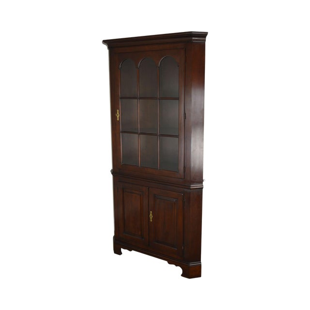 Statton Old Towne Cherry Traditional Corner Cabinet For Sale