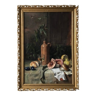 1800's Still Life Oil on Canvas by Known Artist For Sale