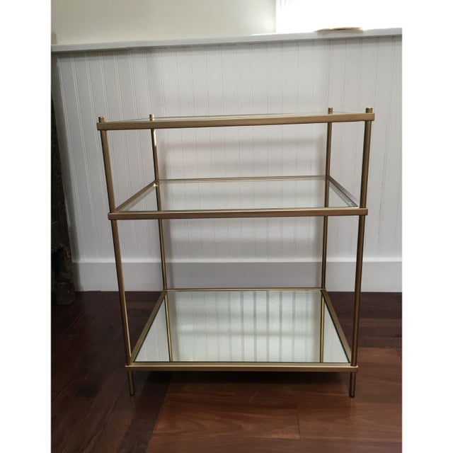 West Elm Brass Terrace Nightstand For Sale - Image 5 of 5
