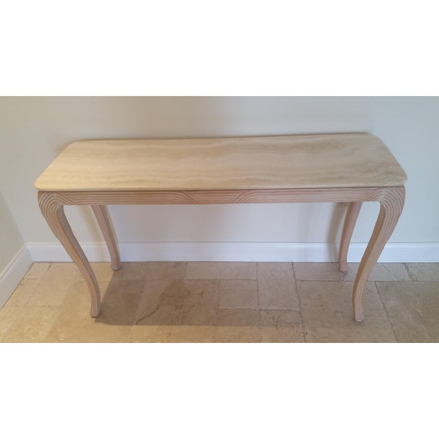 Travertine Top Console - Image 6 of 6