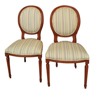 Antique Walnut Side Chairs - A Pair For Sale
