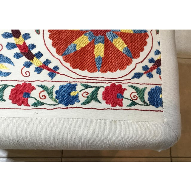 Vintage Upholstered American Sitting Stool For Sale - Image 9 of 13