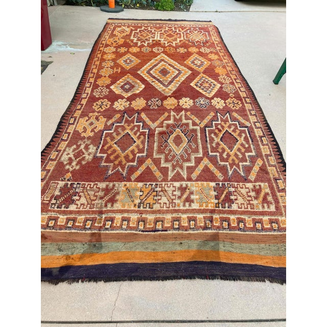 Moroccan Vintage Hand-woven Marrakech Tribal Rug, circa 1960 For Sale - Image 12 of 13