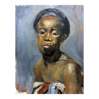 """""""Frontal View"""" Woman Portrait Painting"""