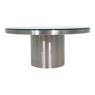 Brushed Stainless Steel Coffee Table For Sale