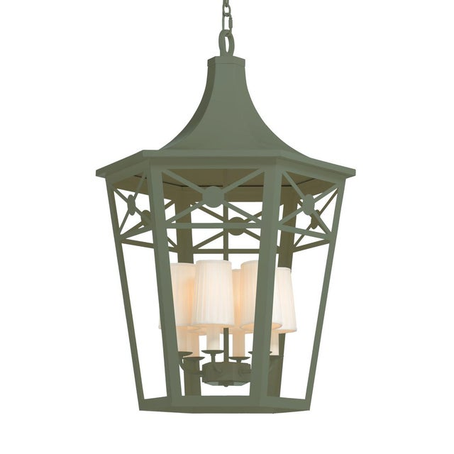 Wildwood Church Court Lantern, Green For Sale - Image 4 of 4