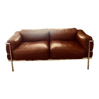Le Corbusier Style Cassina 2 Seater Sofa For Sale