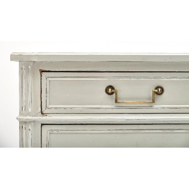 Louis XVI Style French Painted Chest For Sale - Image 4 of 10