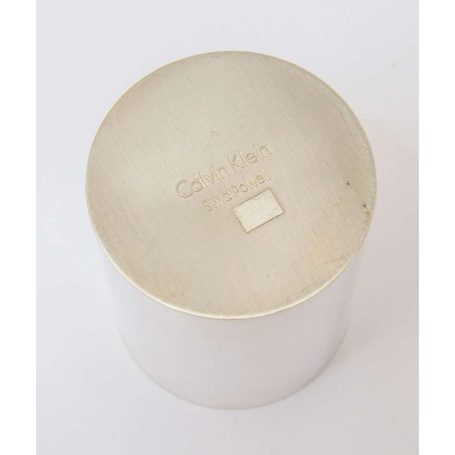 Silver Plate Swid Powell for Calvin Klein Three-Piece Coffee Service For Sale In Miami - Image 6 of 11
