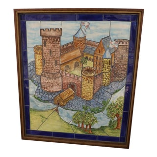 Carden Holland Vintage Handmade Tile Frieze Mosaic For Sale