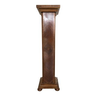 Tall Wood Pedestal For Sale