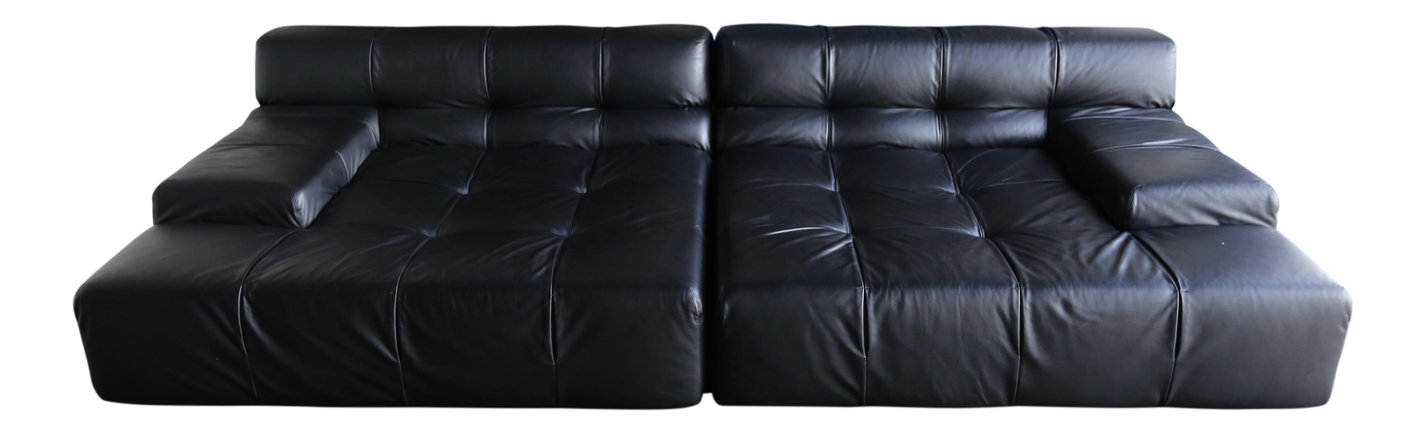 Sophisticated bb italia tufty time leather sofa by patricia urquiola decaso