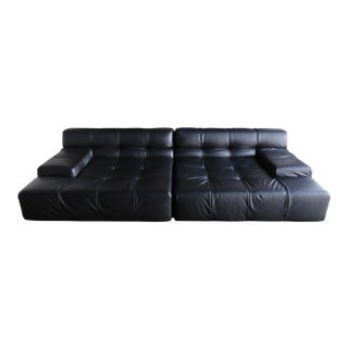 B&b Italia Tufty Time Leather Sofa by Patricia Urquiola For Sale