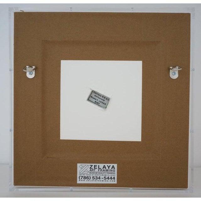 Fernand Léger Vintage Framed Fernand Leger Porcelain Plates - a Set of 4 Different in Lucite Shadowbox Frames For Sale - Image 4 of 13