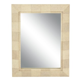 R & Y Augousti Mirror With Shagreen Frame For Sale