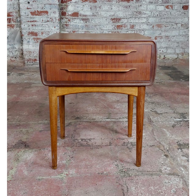Johannes Andersen-Two Drawer Teak Bedside Tables-Mid Century Danish-A Pair For Sale - Image 4 of 10