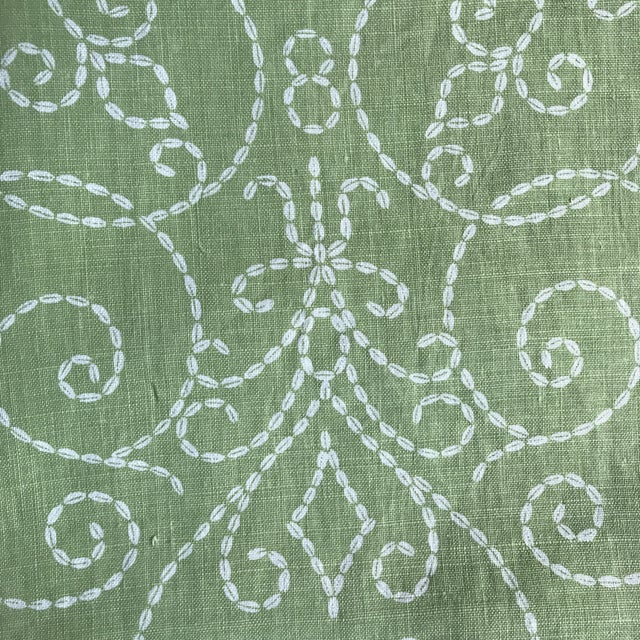 "Raoul ""Vizcaya"" Textiles Green Linen Fabric 2 1/3 Y For Sale - Image 4 of 9"