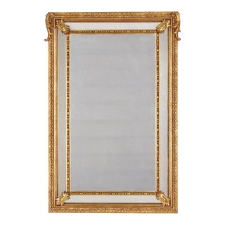 Napoleon III Period Gold Leaf Repousse Mirror, Late 1800s