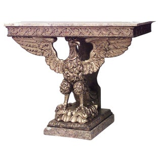 English Georgian Style '19th Century' Eagle Console Table For Sale