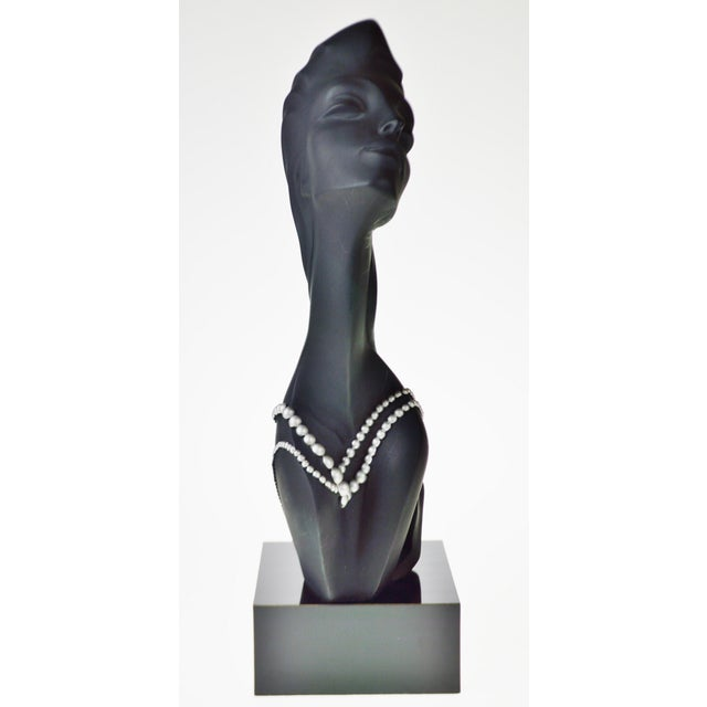 Contemporary Vintage 1990 Austin Productions Alexander Danel Pearls Sculpture of Woman - Rare For Sale - Image 3 of 13