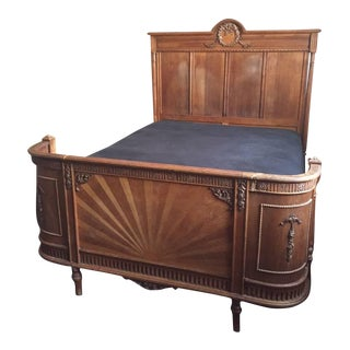 19th Century Victorian Authentic Antique Bedframe For Sale
