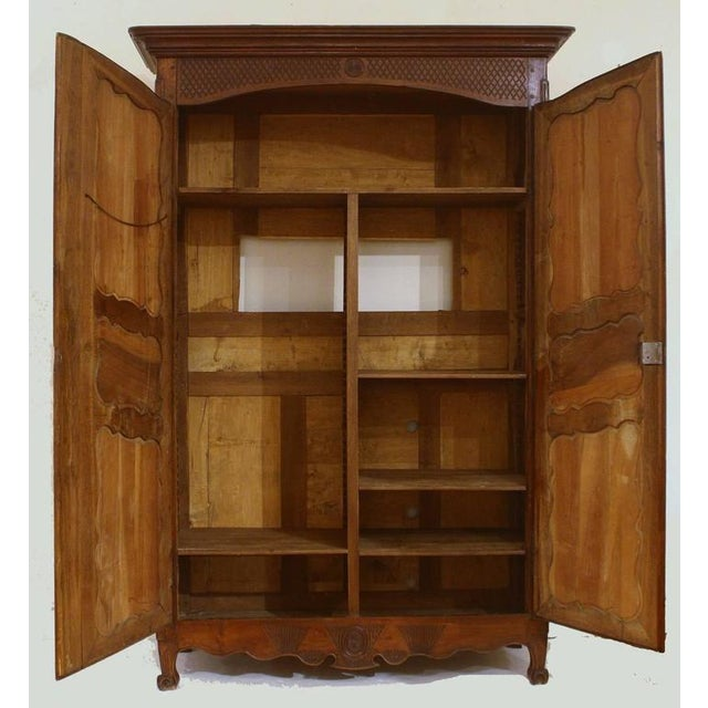 Large 18th Century French Walnut Armoire For Sale - Image 4 of 6