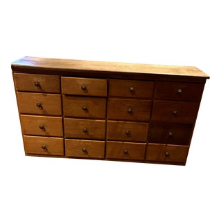 1950s 16-Drawer Americana Chest Of Drawers For Sale