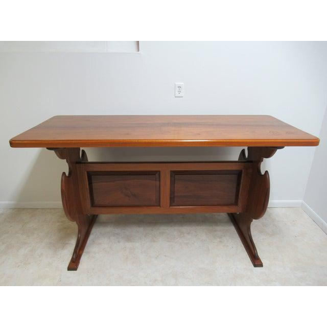 Vintage Solid Teak Mid Century High Top Dining Table Bar Custom Chairish
