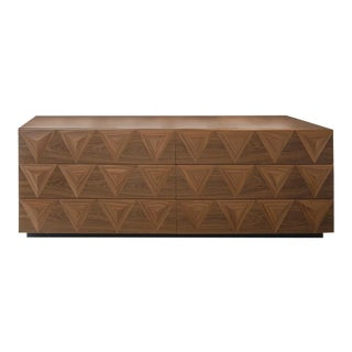 Walnut Atria Credenza For Sale