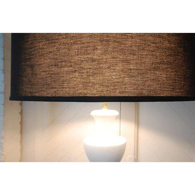 Monumental Balustrade-Form Plaster Table Lamp For Sale - Image 10 of 11