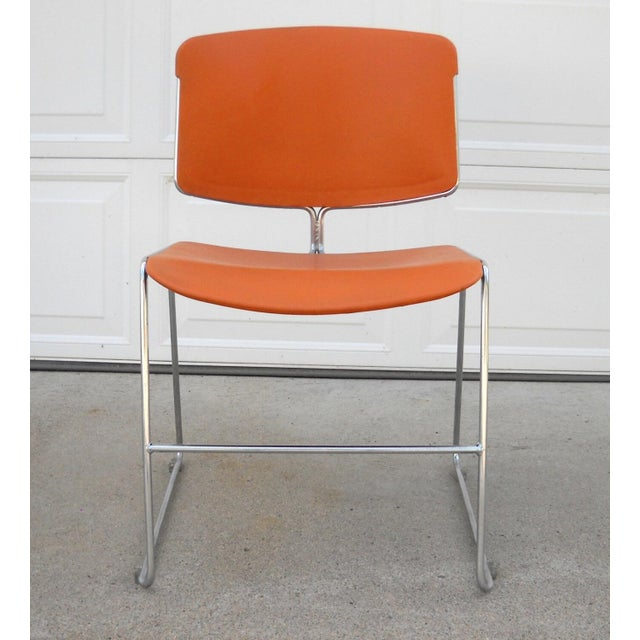 Vintage Orange Steelcase Max-Stacker Chair - Image 2 of 3