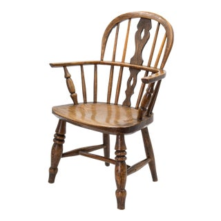 Antique 19th-Century English Windsor Child's Chair For Sale