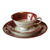Image of 1950s Bavarian Porcelain Tea and Coffee Set - Set of 3 For Sale